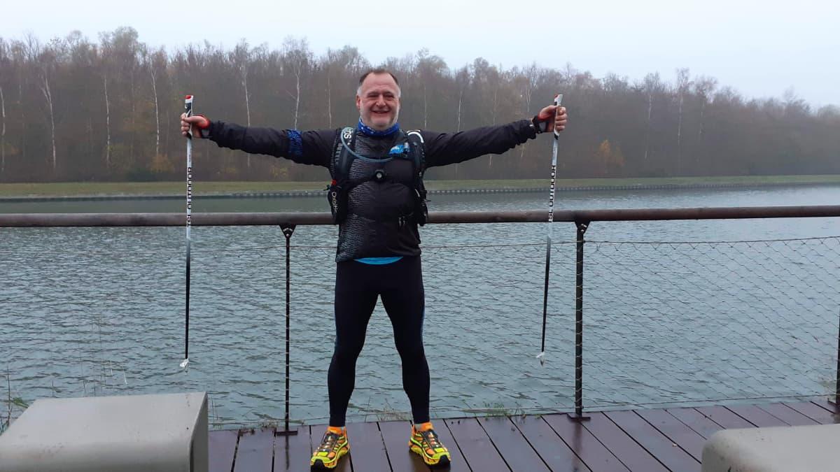 Fred Lefebvre devant le canal de la Deule