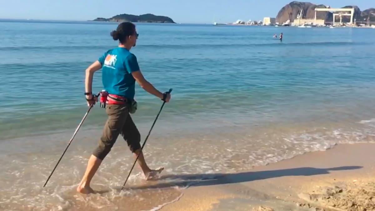 Sébastien Bouchonneau sur une des plages de La Ciotat