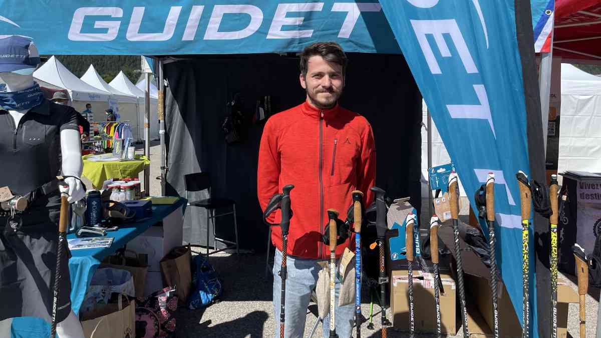 Stand Guidetti à l'EuroNordic Walkin Vercors