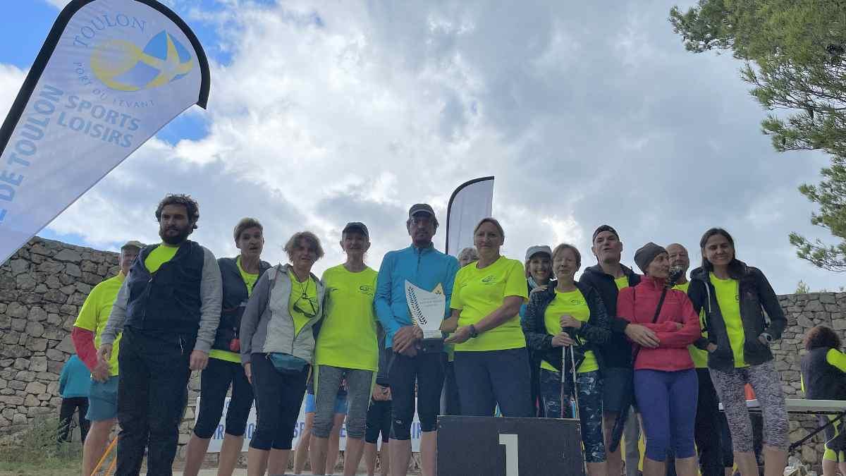 Le club SL Hospitaliers Toulon Athlétisme vainqueur l'an dernier du challenge Ufolep